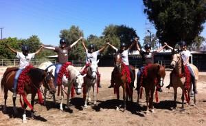 teaching girls to ride